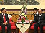 梅克保会见老挝干部考察团